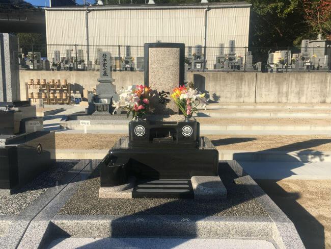 当霊園で建立した洋墓です
