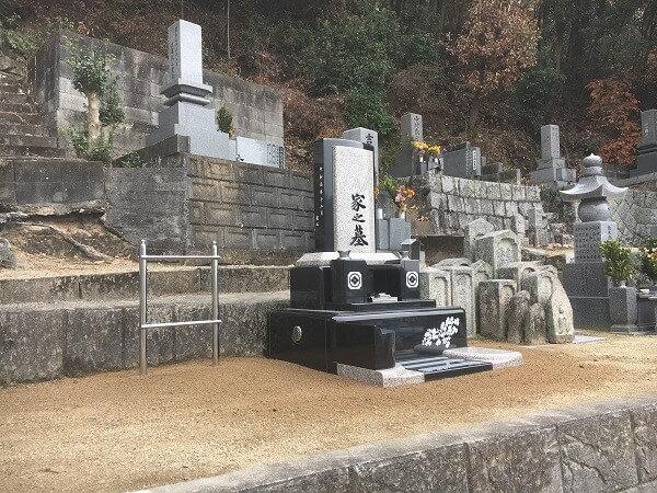 尾道市で建立した洋墓の写真です